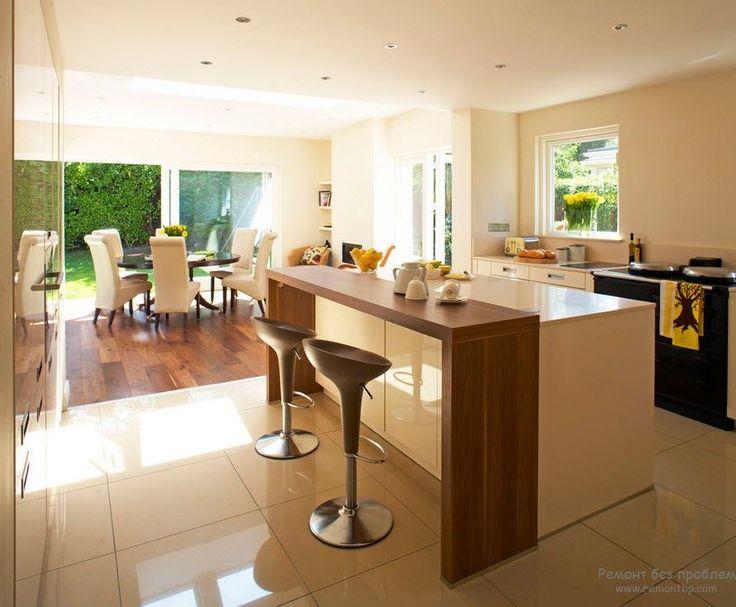 кухня барная стойка дерево и белый - Поиск в Google
