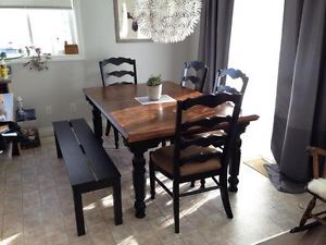 Rustic 7 Pc Dining Set Edmonton Area Image 1