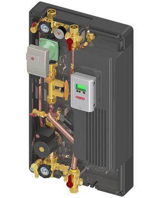"""EXOL-AS1 è un modulo premontato di trasferimento del calore solare per il caricamento di accumulatori d'acqua potabile e accumulatori tampone. Uno scambiatore di calore a piastre in acciaio ad alto rendimento """"scambia"""" il calore del circuito solare al circuito dell'accumulatore. SUPERFICE SOLARE MAX. 80 m2 (Collettore piano) 50 m2 (Collettore sotto vuoto)"""