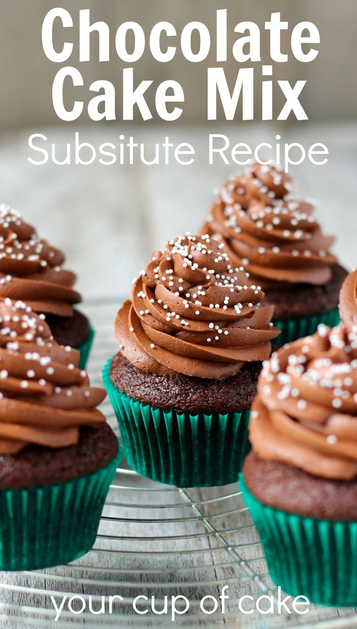 Chocolate cake mix substitute your cup of cake cake