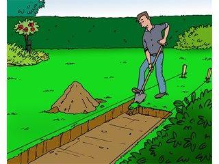 Zelf een tuinpad aanleggen - Klinkers en sierkasseien leggen - Livios Een stappenplan met duidelijke tekeningen.