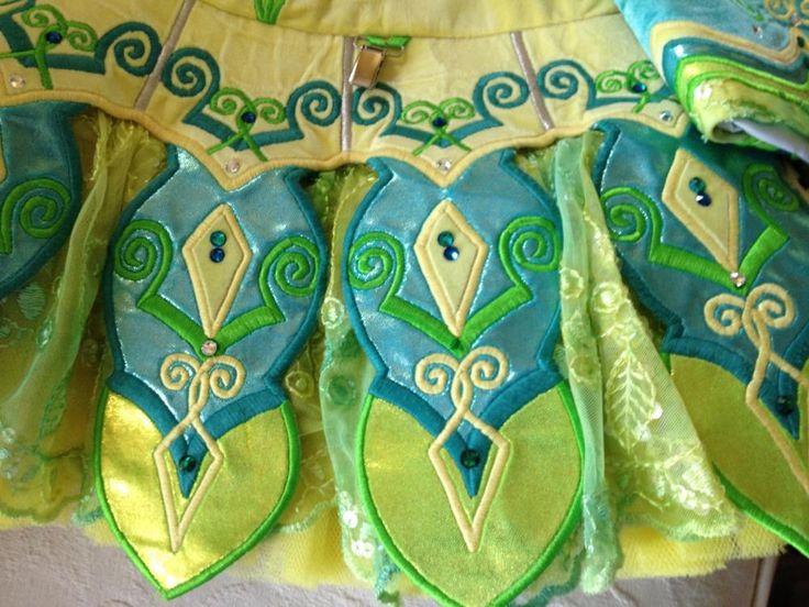 Adorable Yellow Kilkenny Creations Irish Dance Dress Solo Costume For Sale