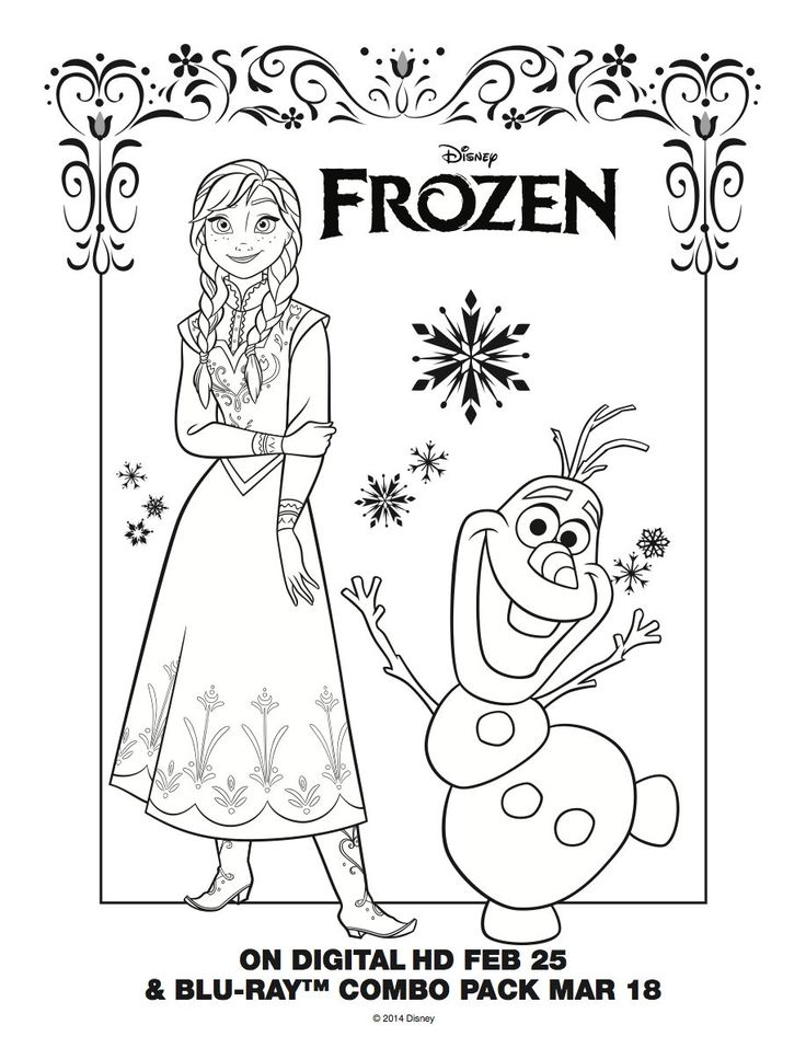 24 best disney frozen birthday coloring pages images on pinterest ... - Princess Tea Party Coloring Pages