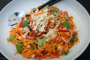 Moroccan Carrot Salad - vegan, dairy free, gluten and grain free and a recipe even the kids will love.