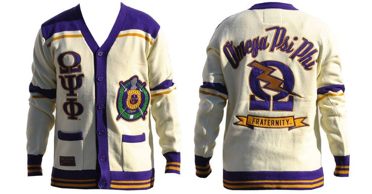 Omega Psi Phi Fraternity Button Down Sweater - Brothers and Sisters' Greek Store