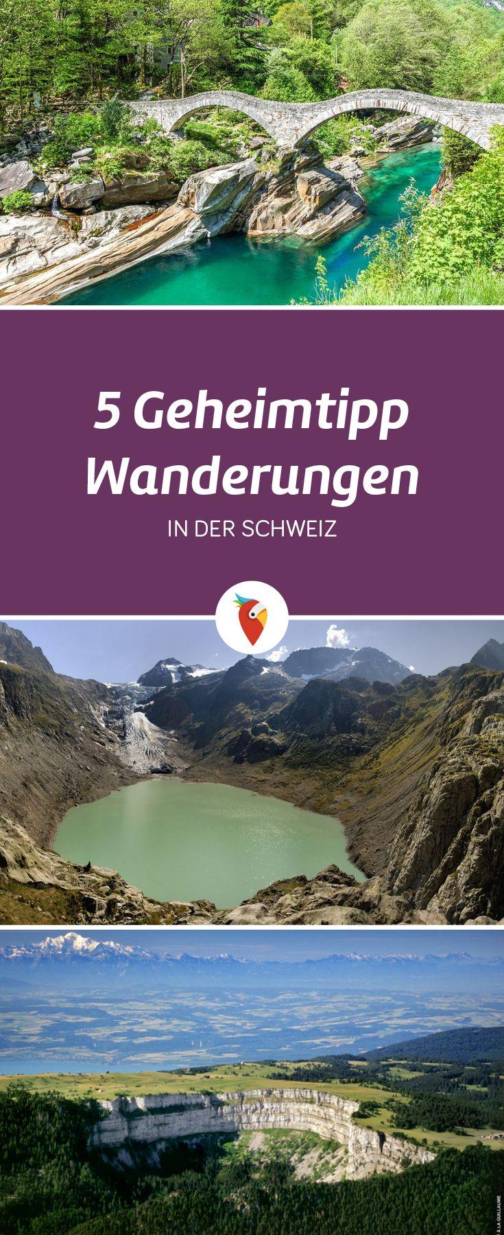 Die fünf schönsten Geheimtipp-Wanderungen in der Schweiz