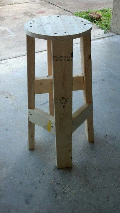 Workshop stool.  Make big enough for bucket with pouches to slide into middle as seat?