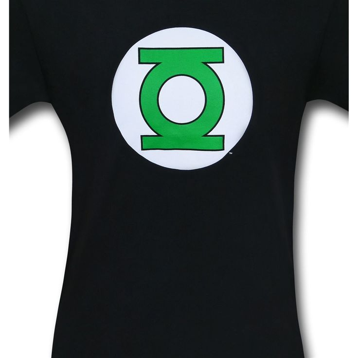 Green Lantern Symbol Black T-Shirt - Close Up
