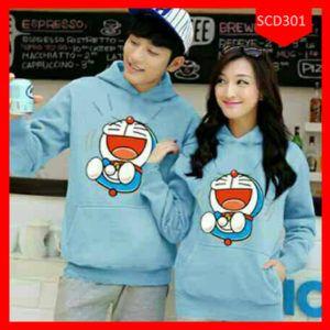 Fashion Hoodie Couple Doraemon Laugh Terbaru