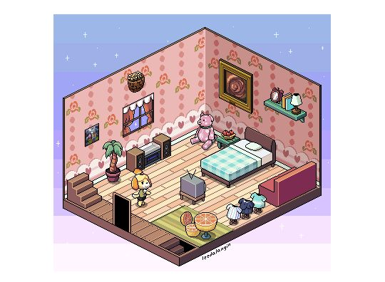 Some New Isometric Art, Finally! This Time In Tribute To Happy Home Designer !