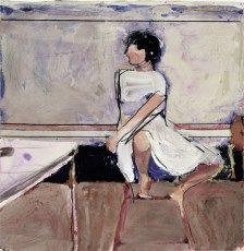 Richard Diebenkorn (American, Bay Area Figurative Movement, 1922–1993): Woman on Stool, 1965.