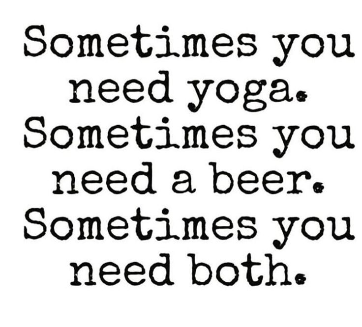 Its about Balance! But don't let the sunny patio beers keep you away from your mat! #yogaeverydamnday