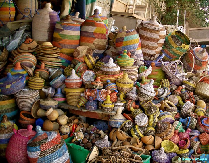 Wicker Basket Manufacturers South Africa : Africa colourful handmade baskets at a store in dakar