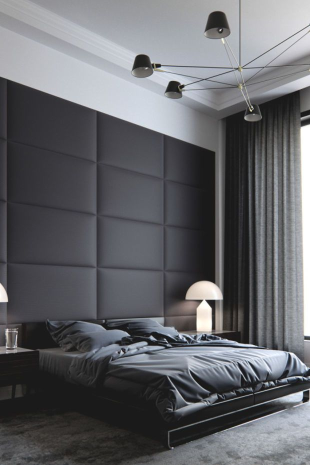 Best 25 masculine bedrooms ideas on pinterest masculine home decor black leather bed and - Modern bed volwassen ...