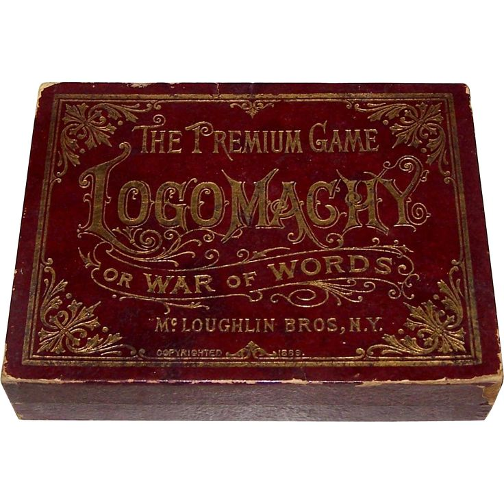 "McLoughlin Bros. ""Logomachy or War of Words"" Game, c.1889 from twoforhisheels on Ruby Lane"