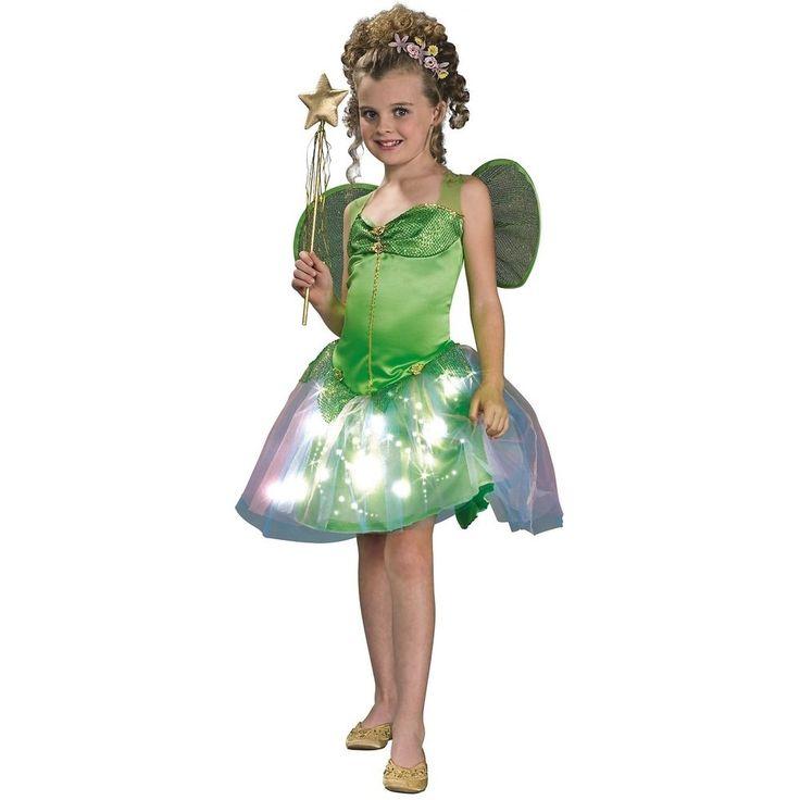 Fairy Costume Kids Green Tinkerbell Light-Up Halloween Fancy Dress #HalloweenResourceCenterInc