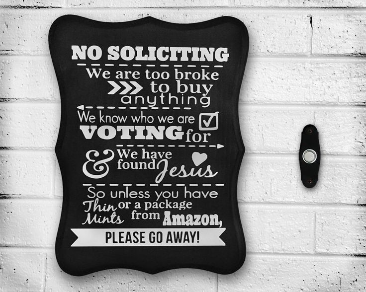 """Handmade """"No Soliciting"""" Sign - Wood - Hand Painted - Outdoor - Home Decor - Gift Idea - Personalized - Solicitation - Front Door - Sealed by WoodWorxDesigns on Etsy https://www.etsy.com/listing/240455076/handmade-no-soliciting-sign-wood-hand"""