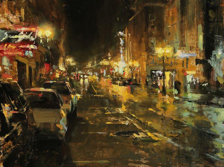 Нечеткость линий, яркие цвета в сочетании с привычными для городского жителя сюжетами жизни большого мегаполиса - все это обманывает наш глаз и разум, окуная его в мягкую атмосферу романтизма.