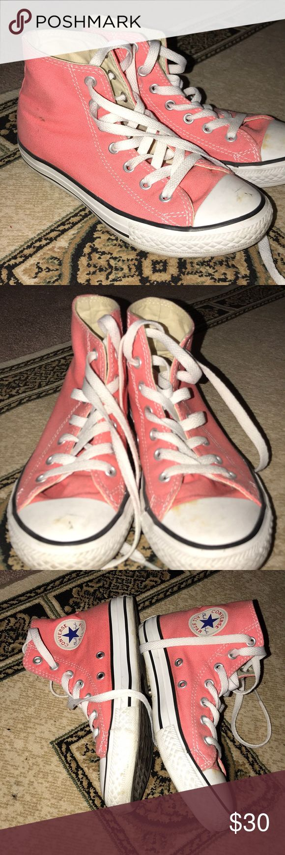 Kids converse Super fun color for spring/summer  Size 2 Some signs of wear but will most likely wash out Soles in almost new condition  See pictures for detailed signs of wear Converse Shoes Sneakers