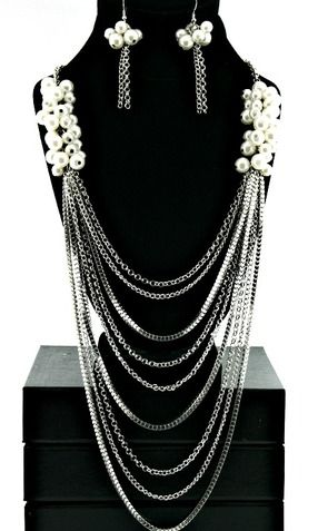 """""""Khloe"""" Long Multi Layered Pearl Necklace - So Sexy Fashion"""