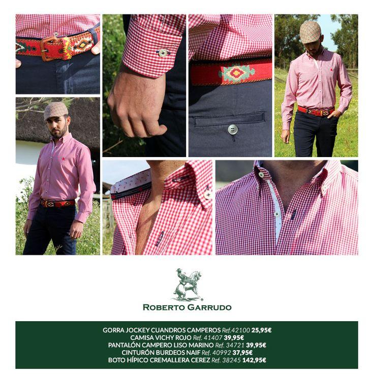 Camisas hombre, cinturones y botos camperos