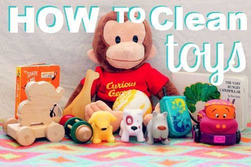 Kids seem to find a way to lick everything! It's definitely gross, so make life a little more sanitary by learning how to properly clean all of your children's toys.  Wooden Toys  With wooden toys it is important to know that the item should never be submerged under water. Water can ca