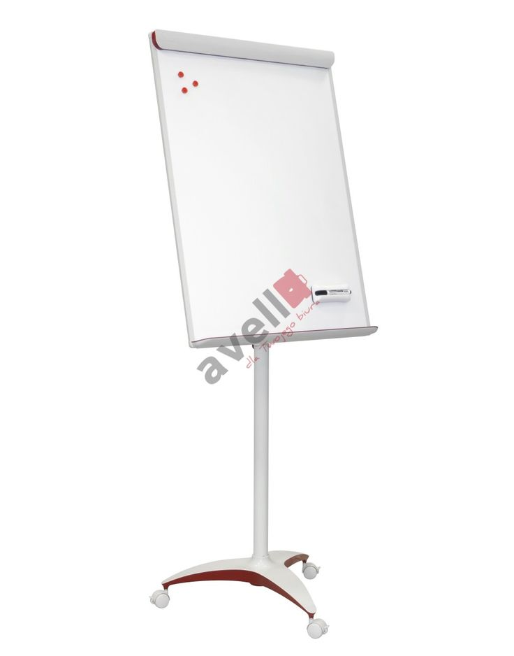 Tablica Flipchart 70x100 Red Mobilny officeBoard Lak. /2x3