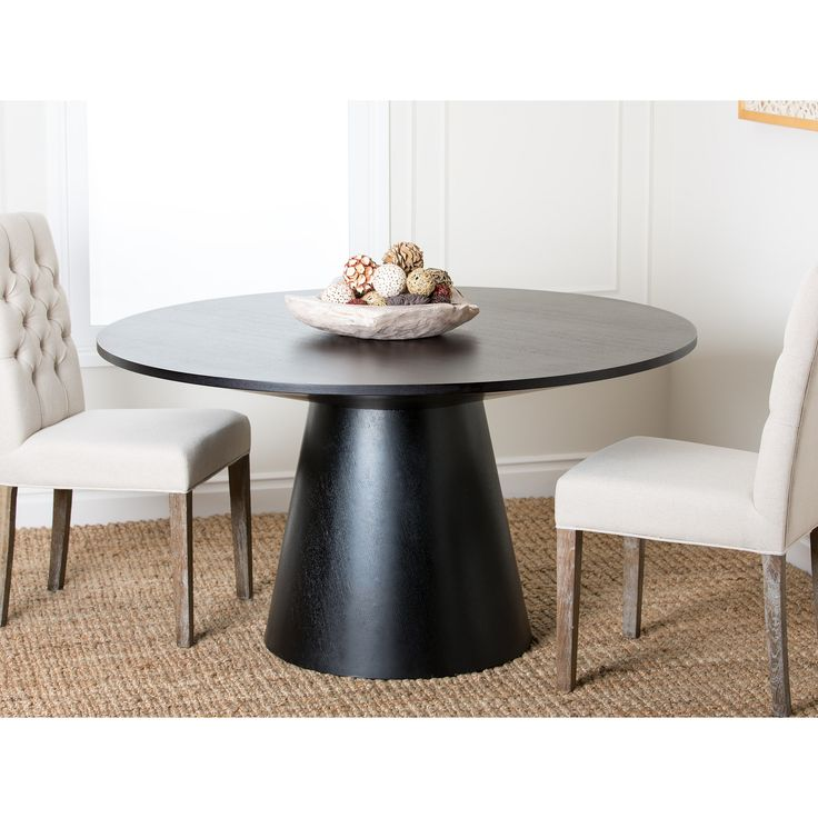 ABBYSON LIVING Sienna Round Wood Dining Table   Overstock com Shopping    The Best DealsBest 20  Round wood dining table ideas on Pinterest   Round dining  . Sienna Collection Black Counter Dining Table. Home Design Ideas