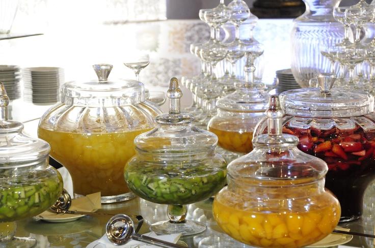 Compotas, frutas en almibar