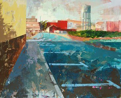 Urbana Rustica XXIV -  Deposito de agua Foios Valencia. Concurso de Rápida Collage + Acrílico  81 X 100 cm. 2015.   Seleccionado en: XVII Concurso de Pintura FUVAMA 2015.