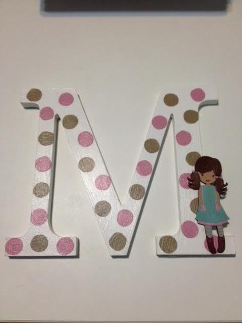 M s de 25 ideas incre bles sobre decorar letras de madera - Ideas para decorar letras de madera ...
