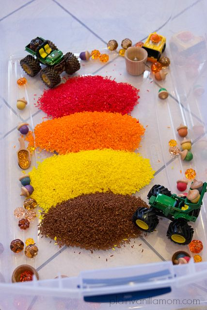 "Autumn Harvest Sensory Tub from Plain Vanilla Mom ("",)"