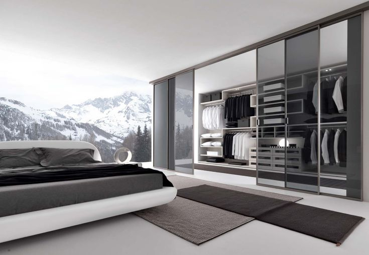 Contemporary Bedroom with Walk in Wardrobe Design as Special Feature   drawhome.com