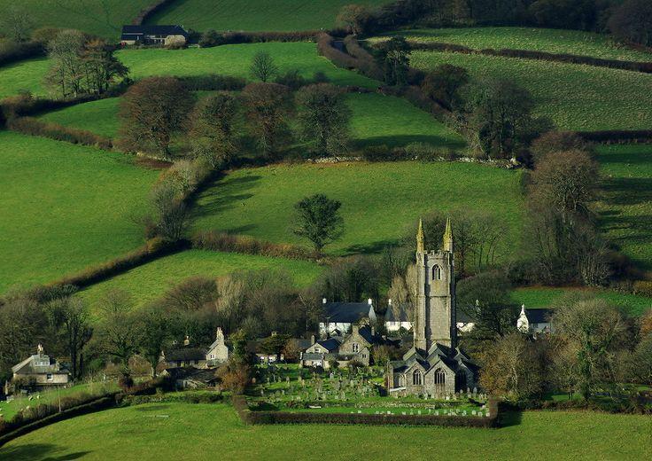 Widecombe in the Moor, beautiful village in the Dartmoor