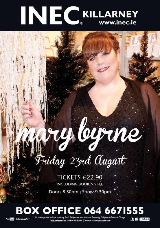 X-Factor finalist Mary Byrne - Gleneagle Hotel Ballroom - 23rd August www.inec.ie