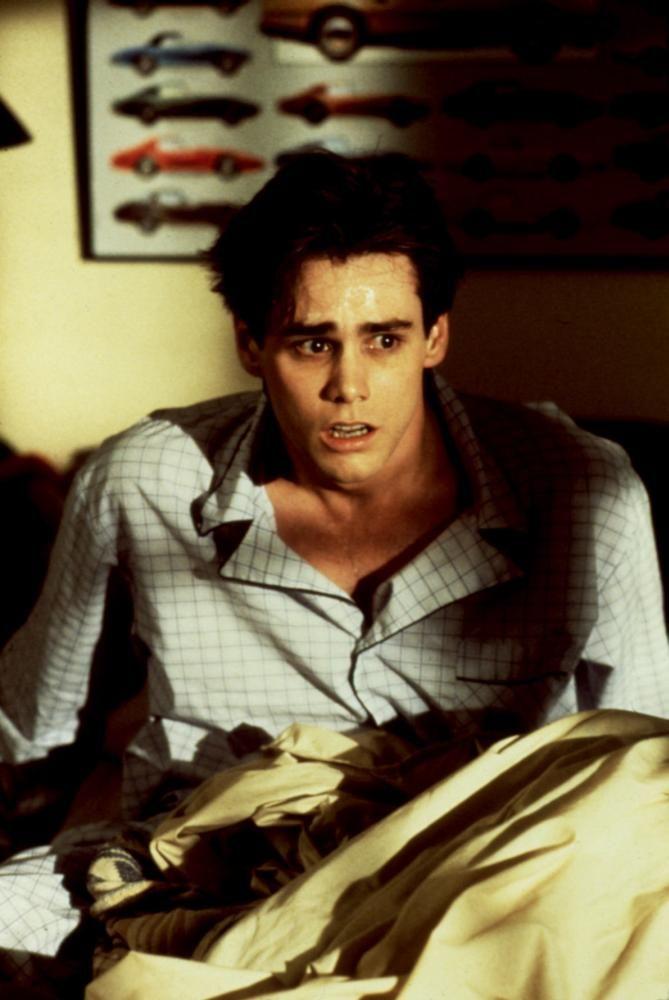 ONCE BITTEN, Jim Carrey, 1985   Essential Film Stars, Jim Carrey http://gay-themed-films.com/film-stars-jim-carrey/