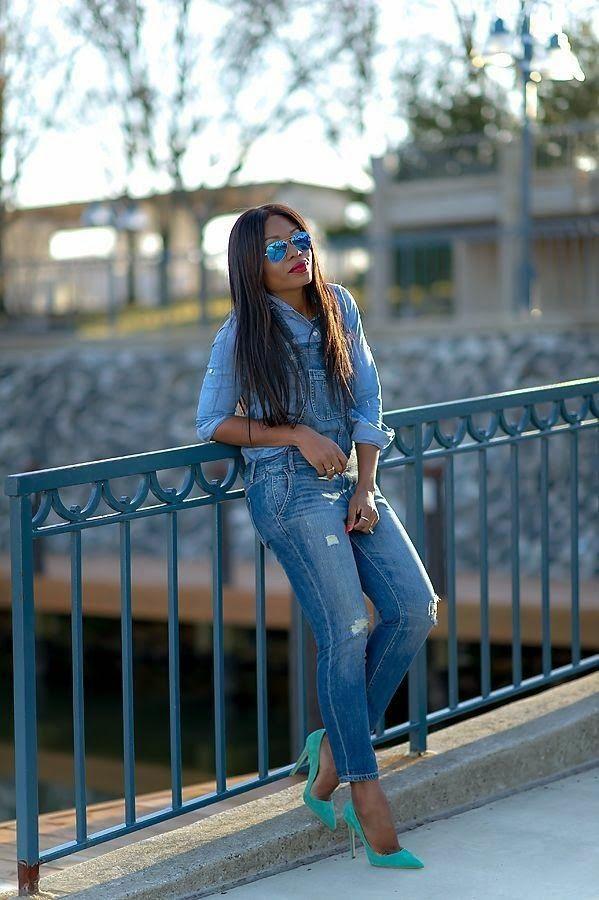 Denim on denim. Jadore Fashion. Fashion Blogger
