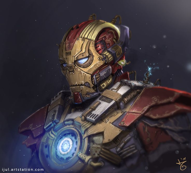 steampunk iron man was at least actually made of iron