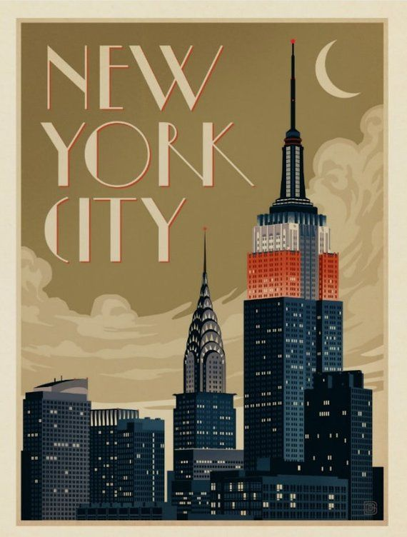 Vintage Art Deco Giclee Poster Print UNITED AIRLINES PRINT