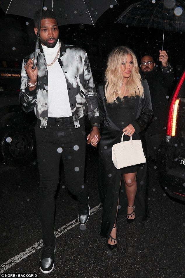 Double celebration! Khloe Kardashian joins Tristan Thompson at his birthday bash on Saturday… hours after star-studded baby shower