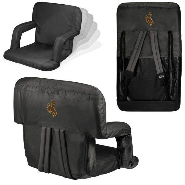 Wyoming Cowboys Ventura Seat Portable Recliner Chair - Black - $77.99