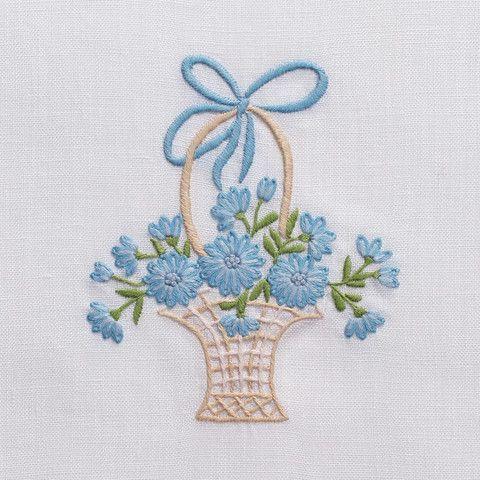 Flower BasketTowel - White Linen – Henry Handwork