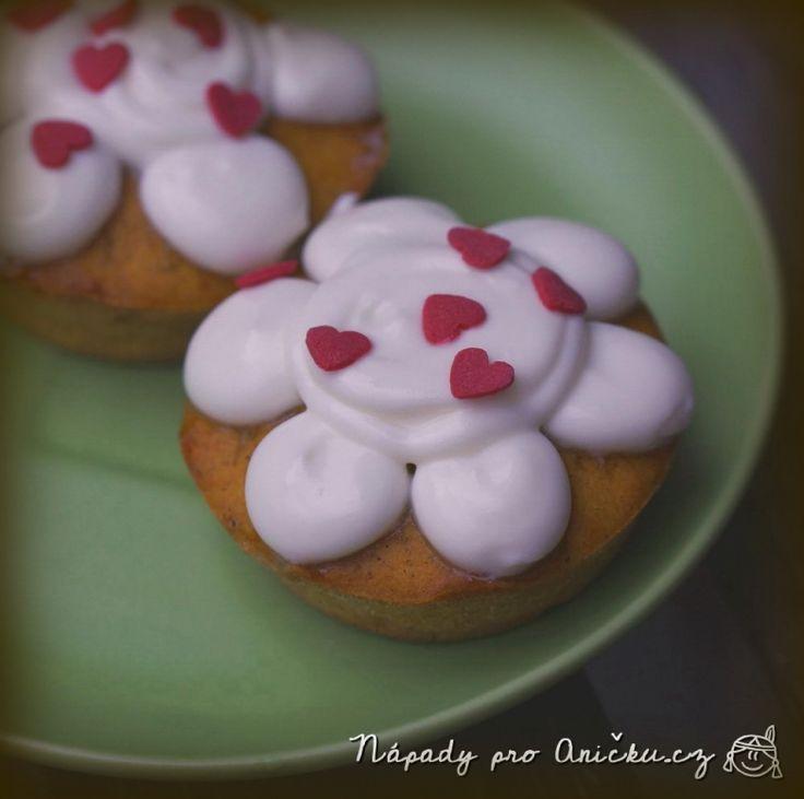 Dýňové muffiny s tvarohovou polevou