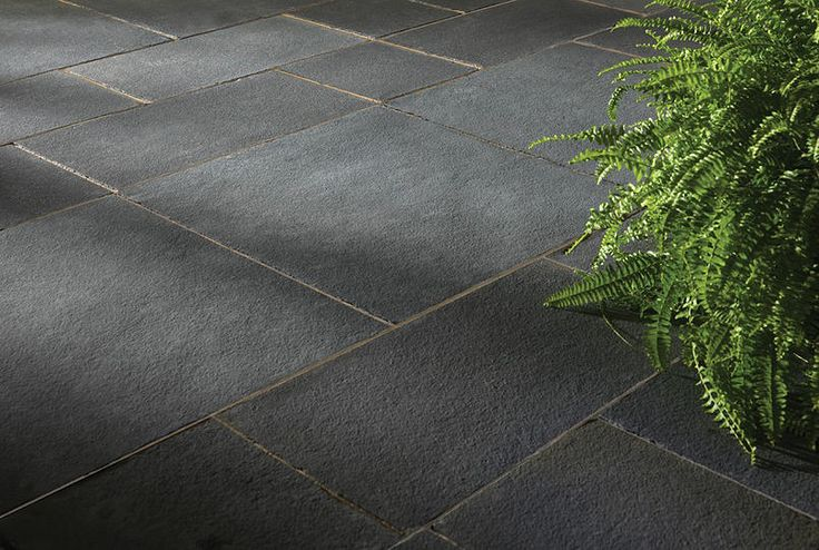"BLACK LIMESTONE   STONE TYPE: LIMESTONE   TOP FINISH: NATURAL   BOTTOM FINISH: NATURAL OR CALIBRATED   EDGE FINISH: SAWN   DIMENSIONS: 1'X1' TO 2'X3'   THICKNESS: 1"", 1.25"", 2"", 6""   ALSO AVAILABLE IN:  COPING, TREADS, STEPS"