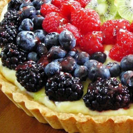 French Fruit Tart with fresh fruit and pastry cream