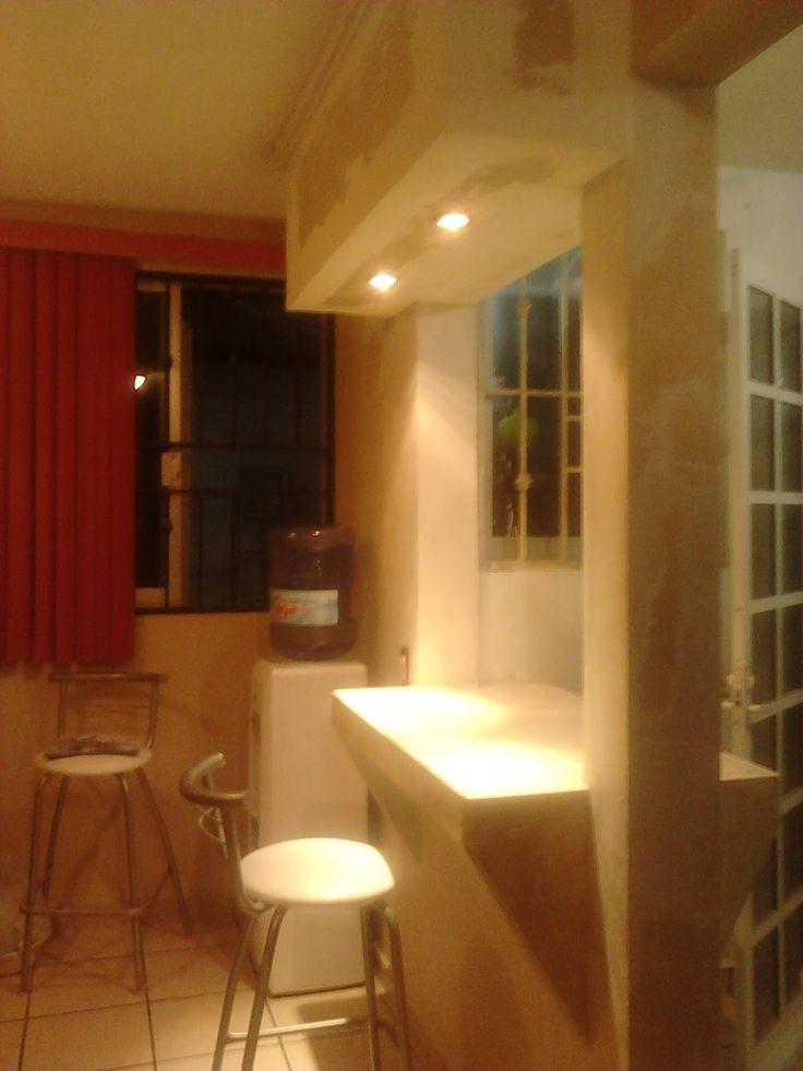 8 best mueble pladur para barra de bar images on for Murales decorativos para interiores