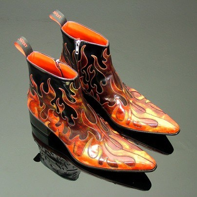 'Hellfire' boots from the very nice people @Jeffery West
