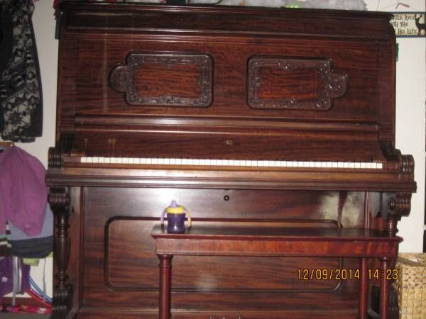 Mehlin & Sons New York Upright Grand Piano