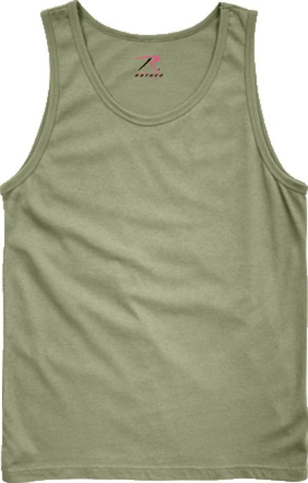 Olive Drab Military Physical Training Tank Top | 6701 | $6.99