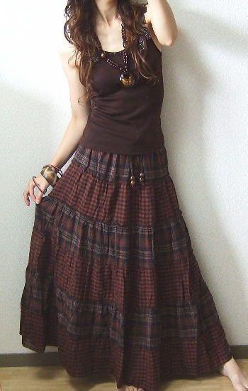 Bohemiskt mode med jordnära färger.